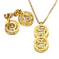 c5d1cf859853 Conjuntos de joyería de acero inoxidable Saint · Joyería de acero  inoxidable de diamantes de imitación